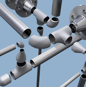 Pipes, flanges and fittings